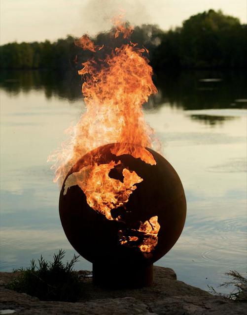 Earth Globe Firepit